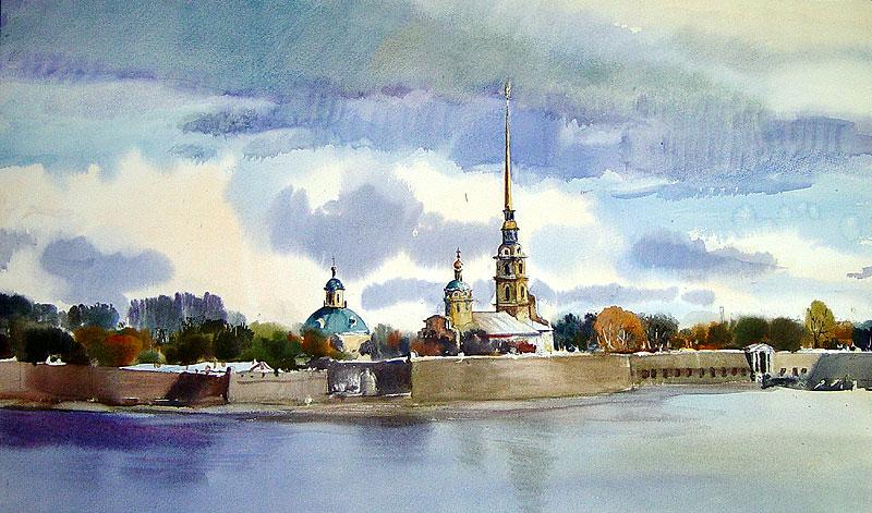город Санкт-Петербург, построенный Петром