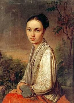Венецианов. портрет В.С Путятиной