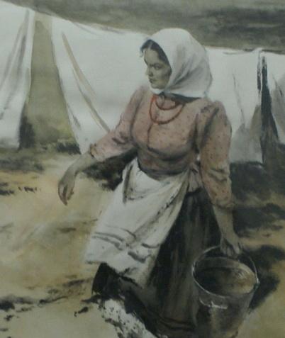 Аксинья, художник Леонов