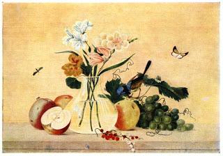 картина Цветы фрукты птица Ф.Толстого