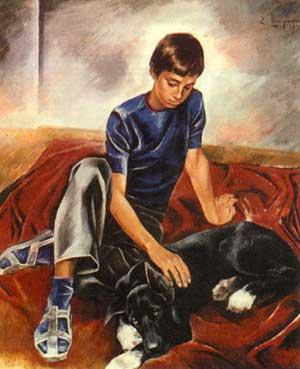 картина Друзья художника Широкова