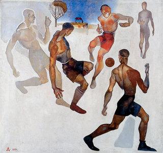 картина Дейнека Футбол 1924г