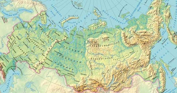Среднесибирское плоскогорье на карте