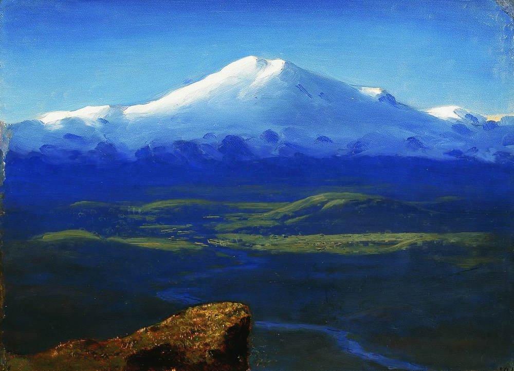 Картина Снежные вершины Куинджи