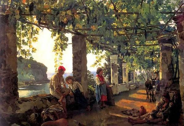 Картина Веранда, обвитая виноградом Щедрина