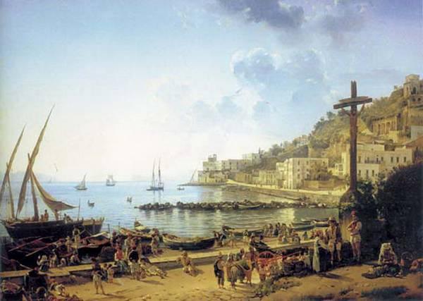 Картина Набережная Мерджеллина в Неаполе Щедрина