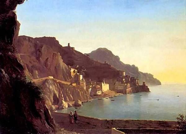 Картина Итальянский пейзаж. Капри Щедрина