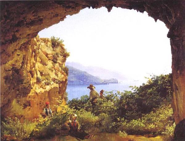 Картина Грот Матроманио на острове Капри Щедрина