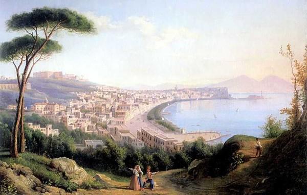 Картина Вид на Неаполь с дороги в Позилиппо Щедрина