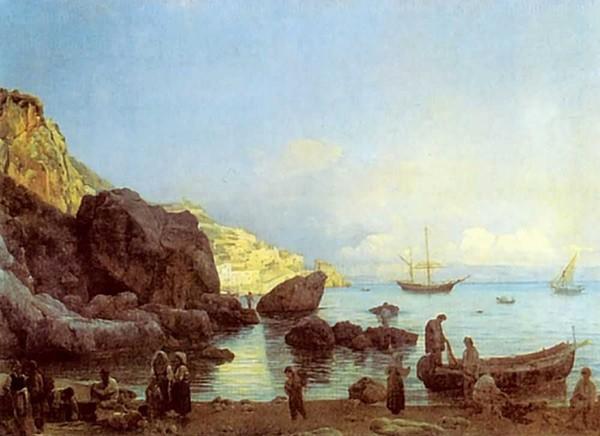 Картина Вид Амальфи близ Неаполя Щедрина