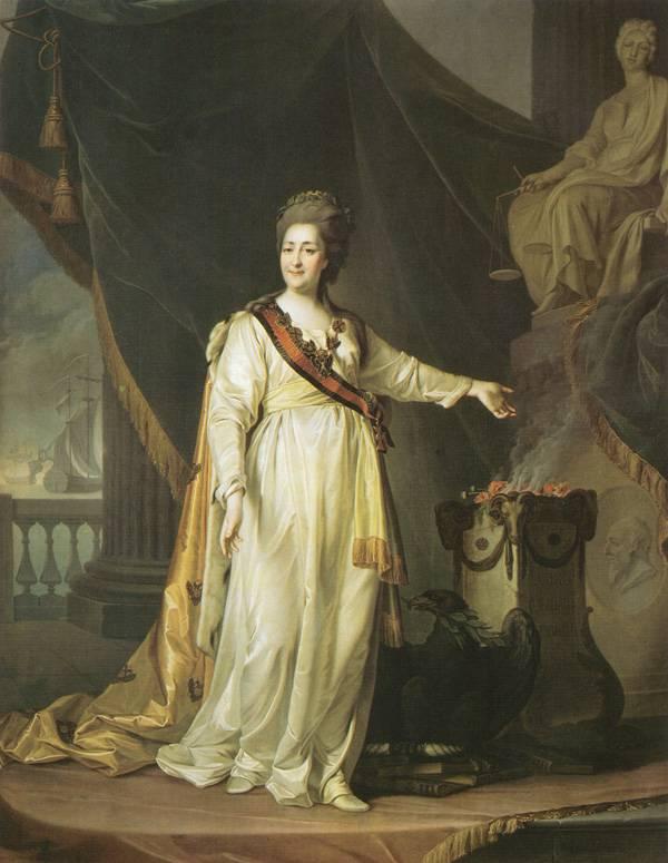 Картина Портрет Екатерины II в виде законодательницы в храме богини Правосудия Левицкого