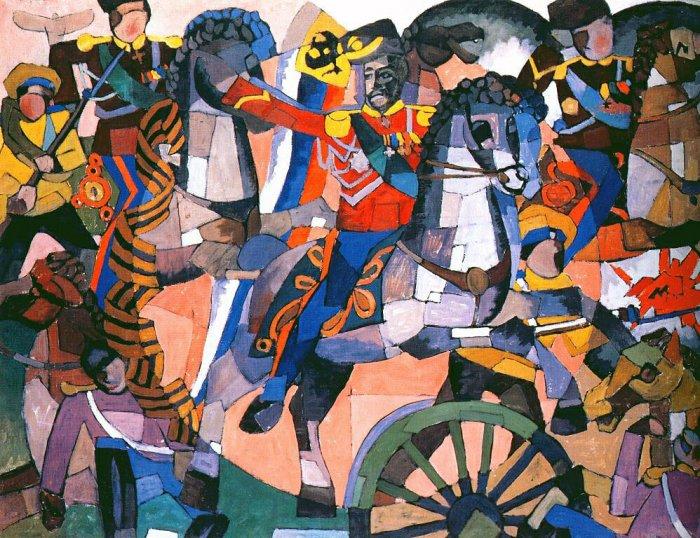 Картина Битва победы Лентулова