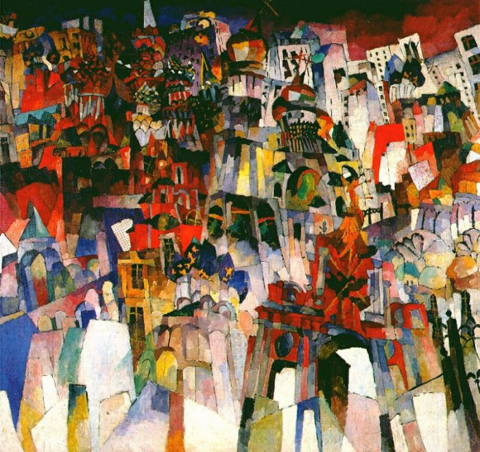 Картина Москва Лентулова