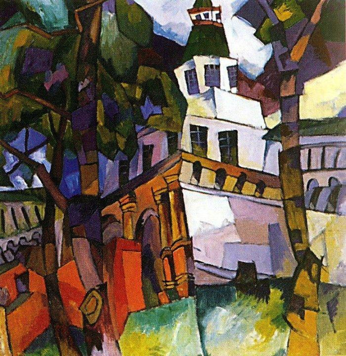 Картина Ворота с башней. Новый Иерусалим Лентулова