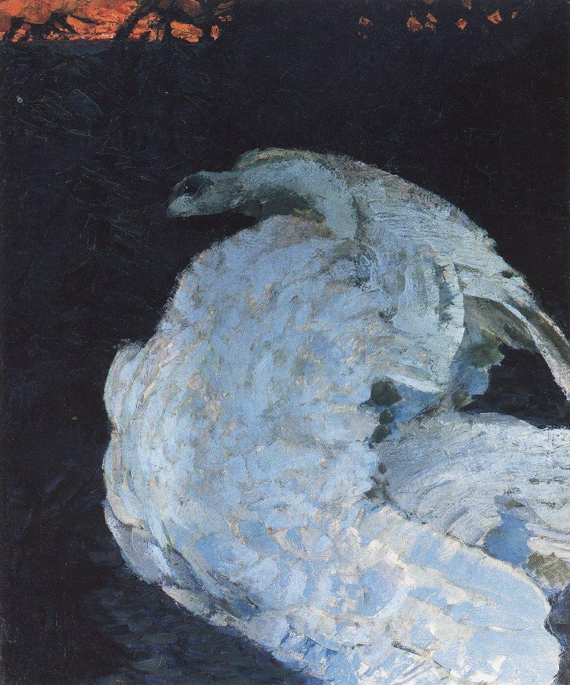 Картина Лебедь Врубеля