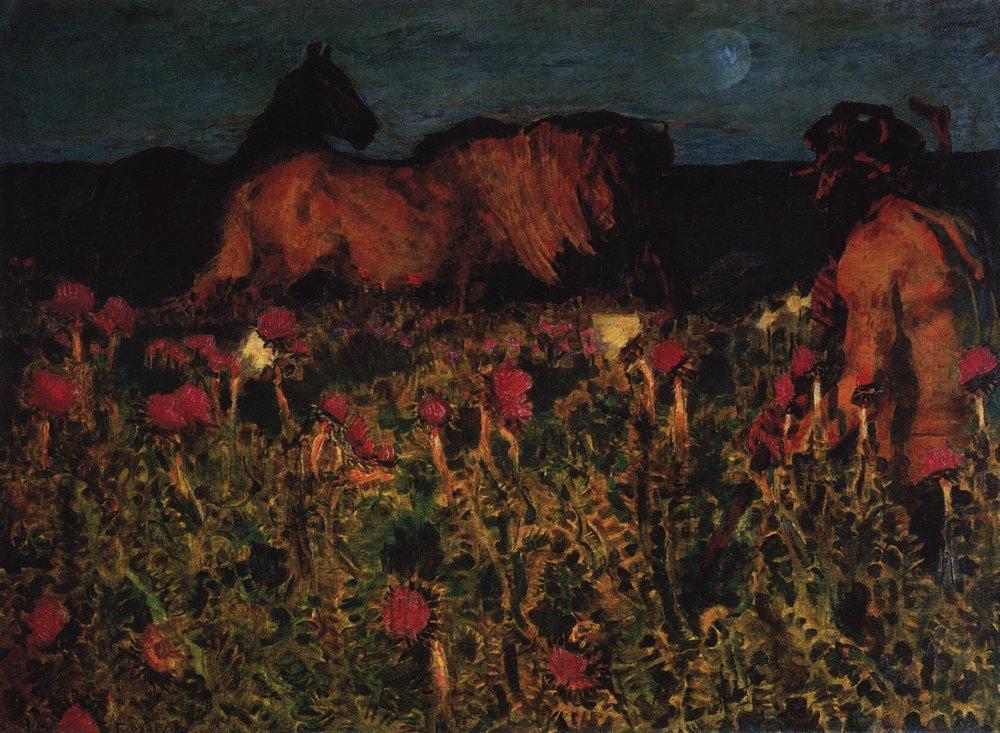 Картина К ночи Врубеля
