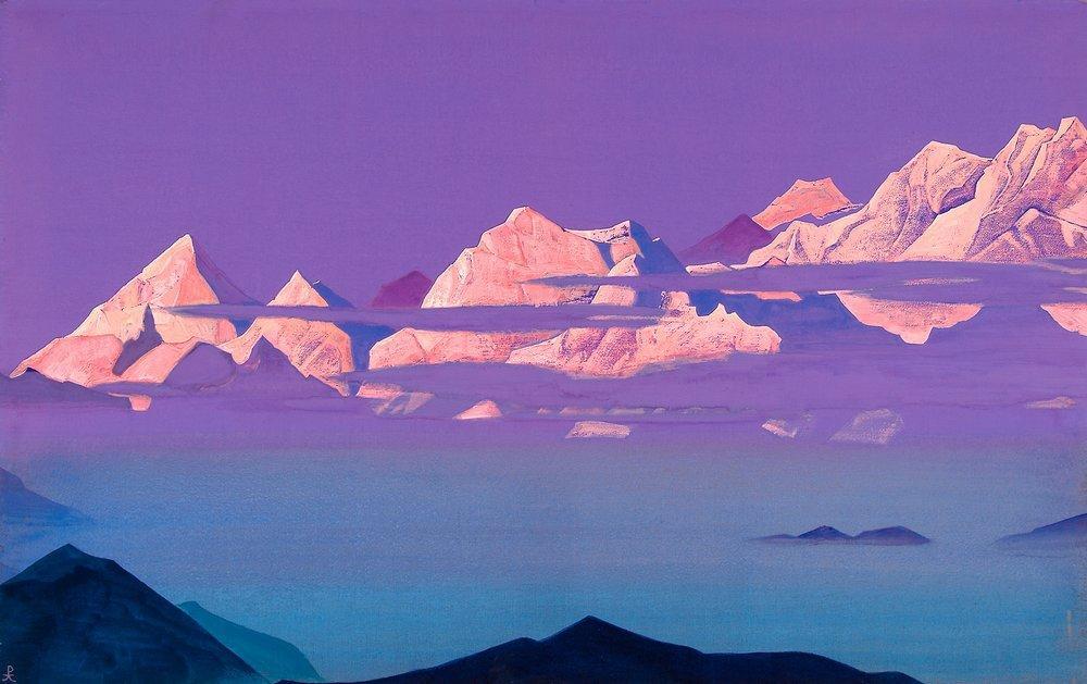 Картина Гималаи. Розовые горы Рериха