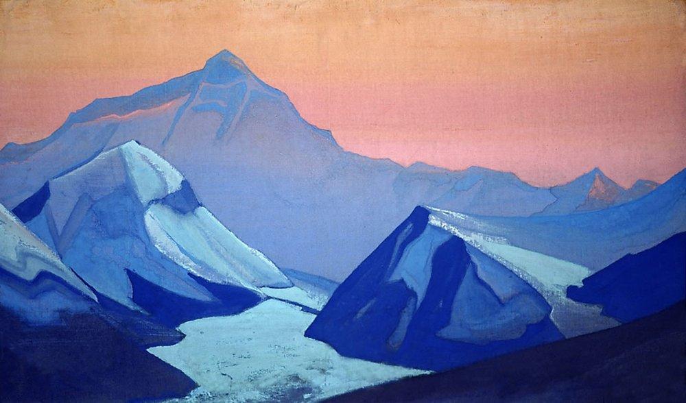 Картина Гималаи. Эверест Рериха