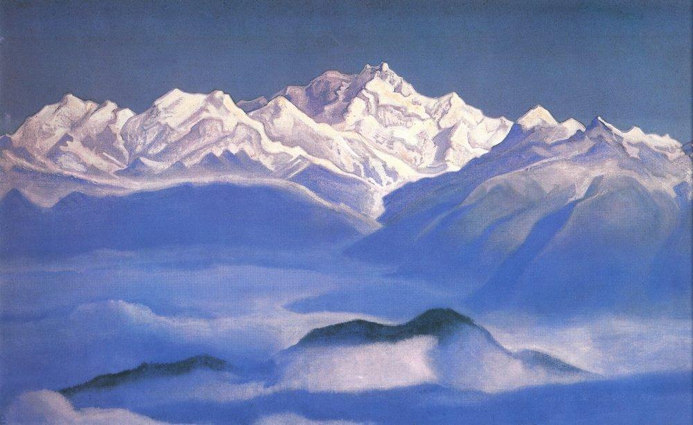 Картина Гималаи. Голубые горы Рериха