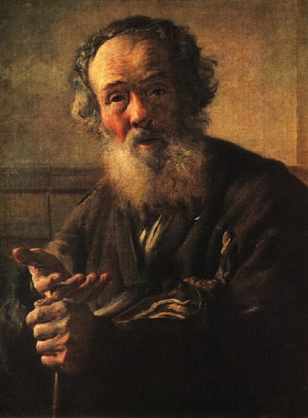 Портрет Нищий старик Тропинина