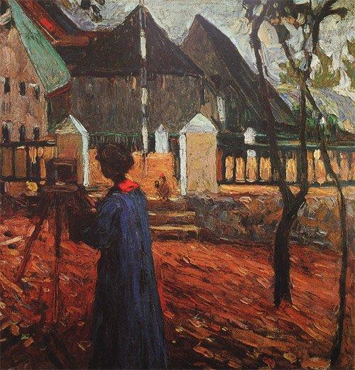 Картина Габриела Мюнтер за рисованием Кандинский