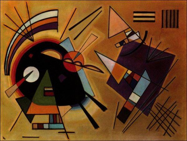 Картина Чёрное и фиолетовое Кандинский