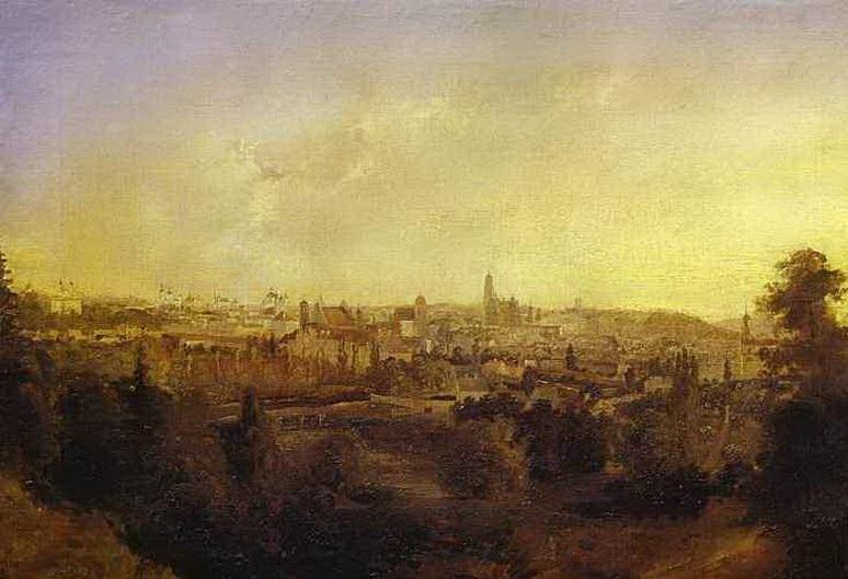 Картина Вид города Гродно Воробьев