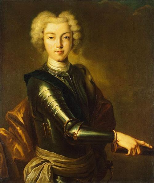 Портрет Петра II неизвестного автора 18 века - начало 19 века фото