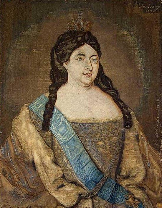 Анна Иоанновна Ф. Бегагля и С. Климова 1732 года фото