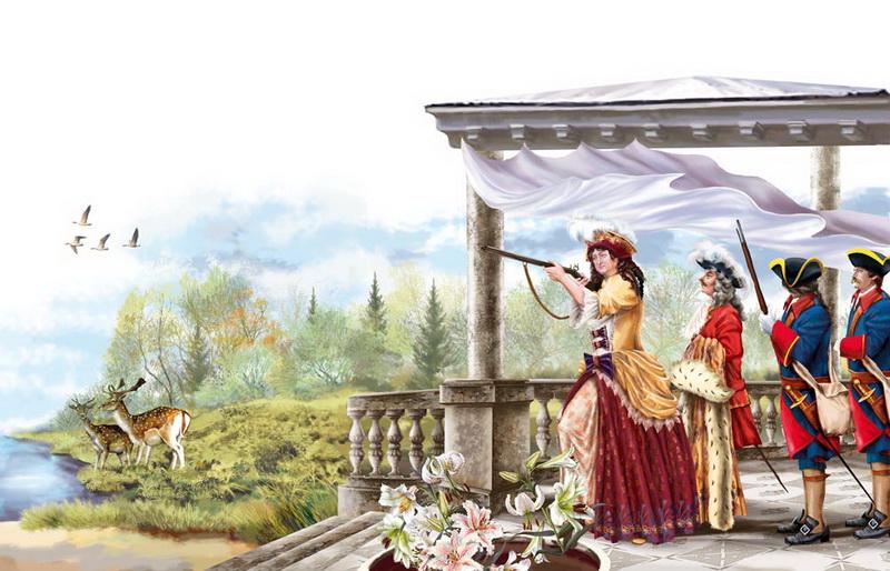 Картина Анна Иоанновна на охоте Елены Доведовой фото