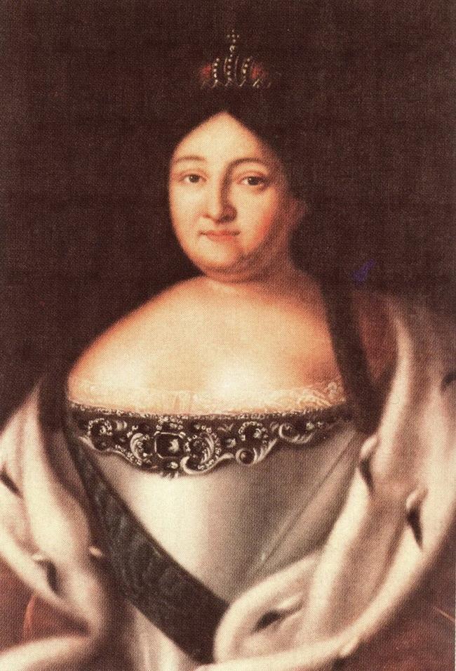 Портрет императрицы Анны Ивановны неизвестного художника начало XIX века копия с оригинала 1730-х годов фото