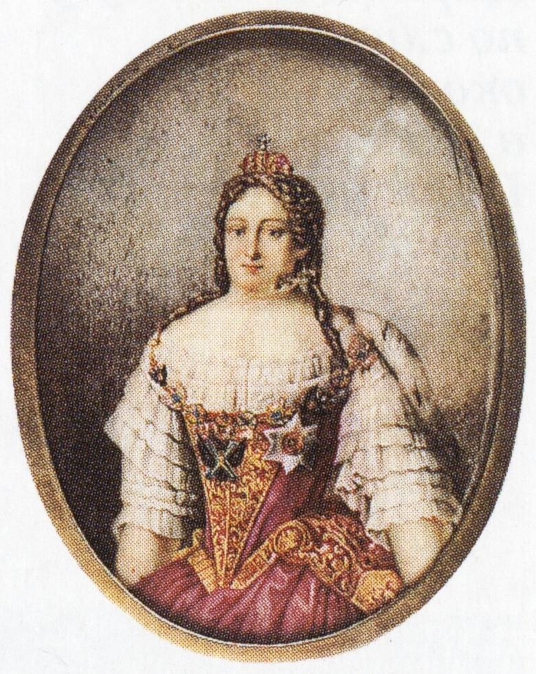 Портрет императрицы Анны Ивановны неизвестного художника конец XIX - начало ХХ века фото