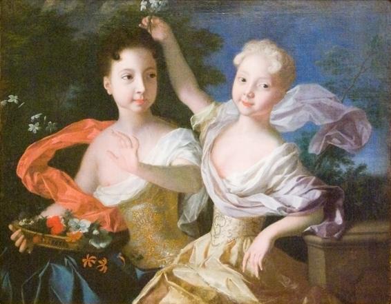 Портрет царевен Анны Петровны и Елизаветы Петровны Луи Каравакка 1717 года фото