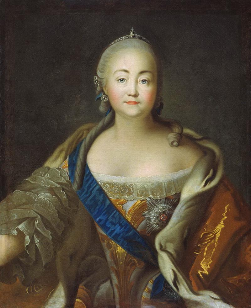 Портрет императрицы Елизаветы Петровны Ивана Аргунова фото