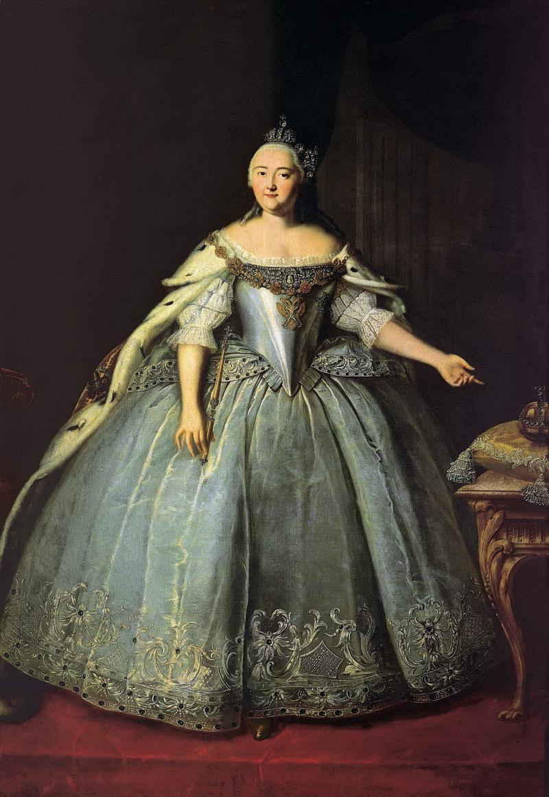 Портрет императрицы Елизаветы Петровны Ивана Вишнякова 1743 года фото