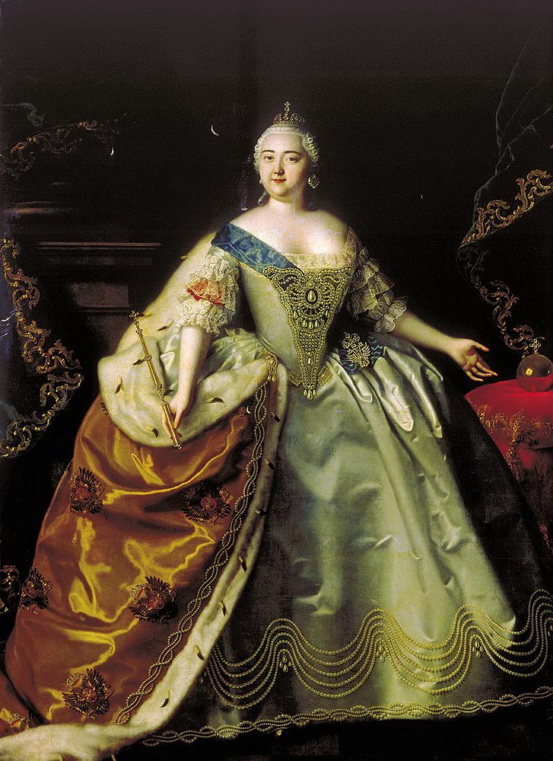 Портрет императрицы Елизаветы Петровны Луи Каравакка 1750 года фото
