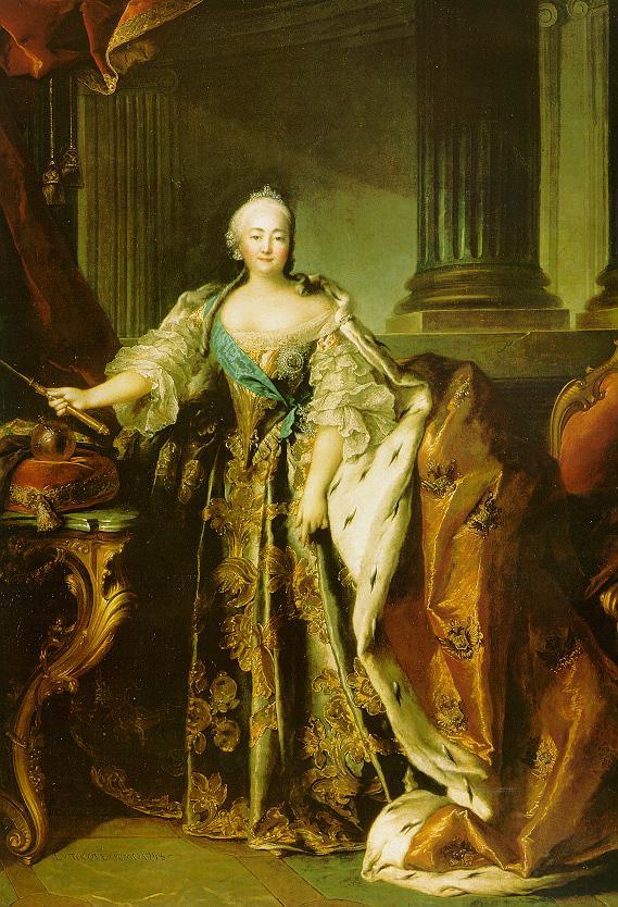 Портрет императрицы Елизавеиы Петровны Л. Токке 1758 года фото