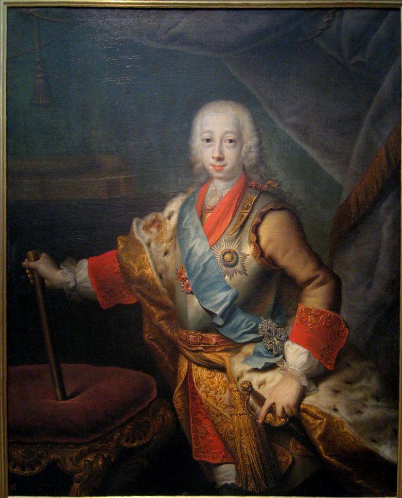 Портрет Петра Фёдоровича в бытность Великим князем Г. Х. Гроота фото