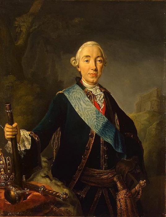 Портрет Петра III Фёдоровича Романова неизвестного художника фото