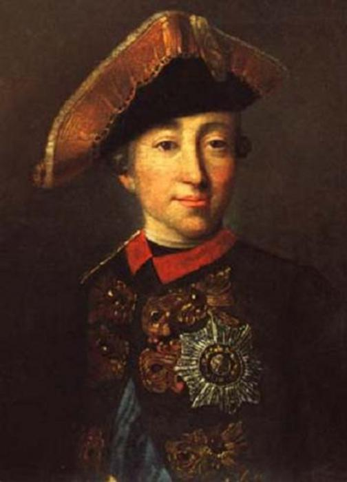 Портрет Петра III неизвестного художника последняя треть XVIII века фото