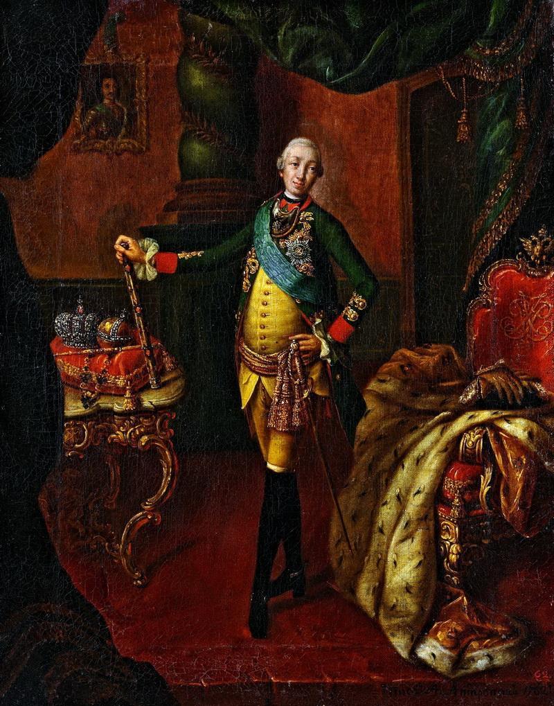 Портрет Петра III Алексея Антропова фото