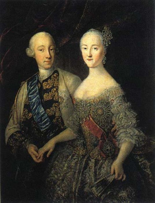 Портрет Петр III и Екатерина Алексеевна неизвестного художника фото
