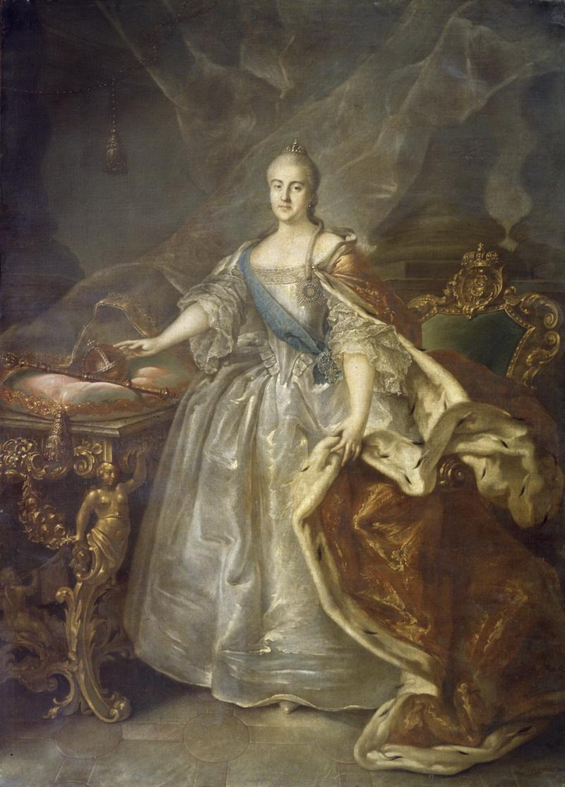 Портрет Екатерины II Ивана Аргунова 1762 года фото