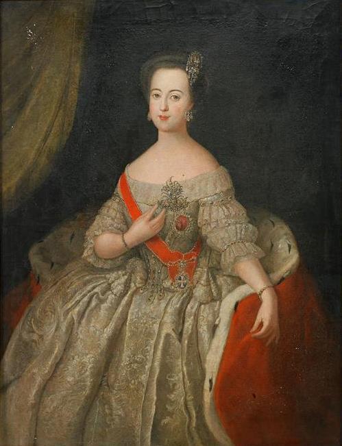 Портрет Екатерины II в молодости Антуана Пэна фото