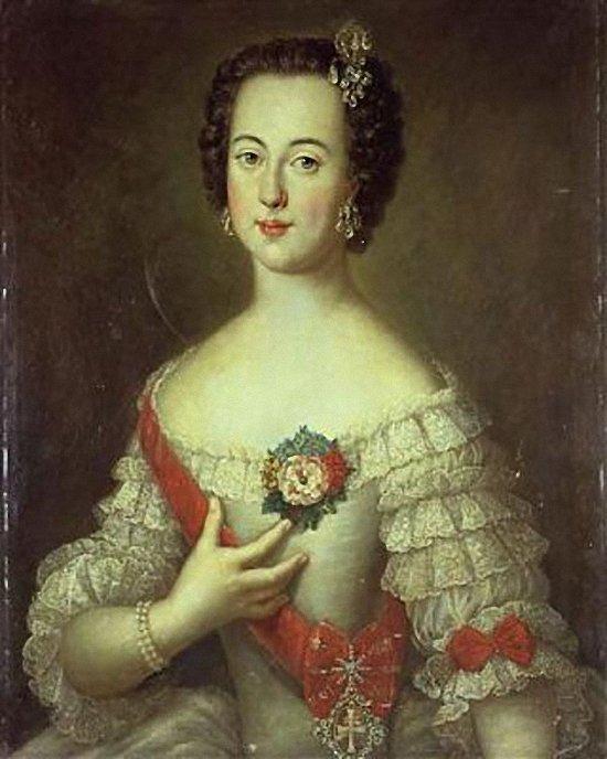 Портрет великой княгини Екатерины Алексеевны Луи Каравака 1745 года фото
