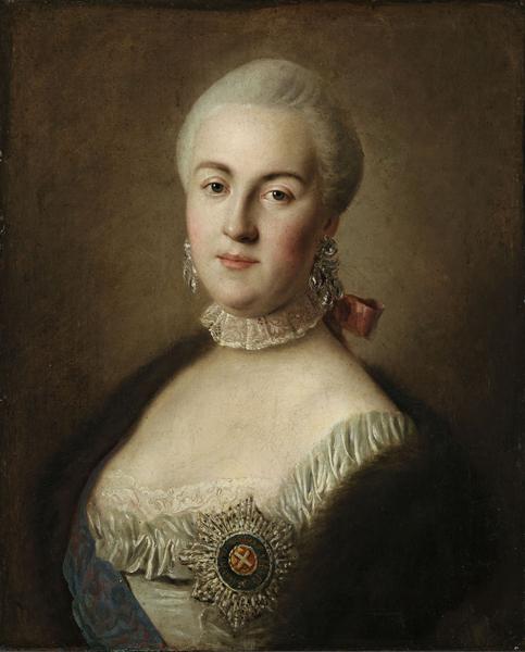 Портрет великой княгини Екатерины Алексеевны Пьетро (Пьетро Антони) деи Ротари 1761 года фото