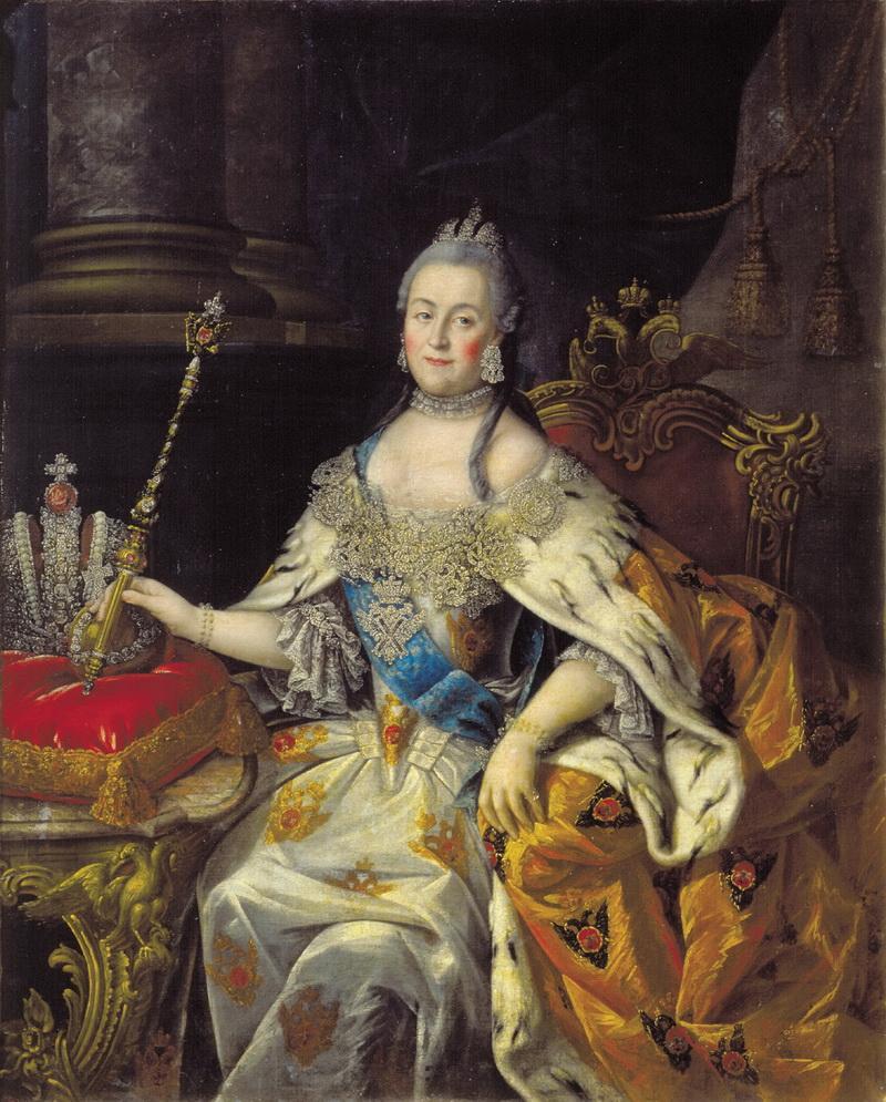 Портрет Екатерины II Алексея Антропова 1766 года фото