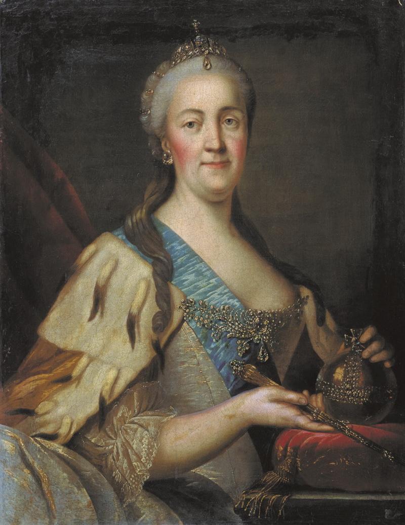 Портрет Екатерины II Ивана Саблукова 1770-е годы фото