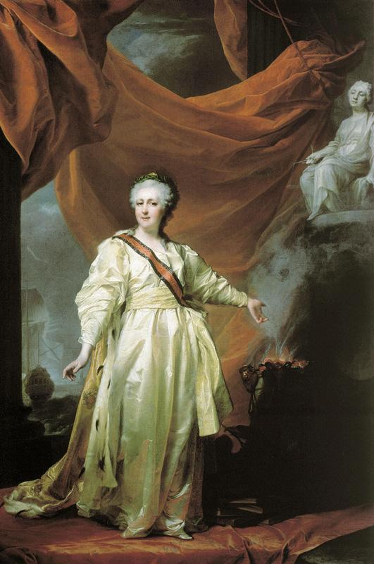 Портрет Екатерины II в виде законодательницы в храме богини Правосудия Дмитрия Левицкого 1780-е годы фото