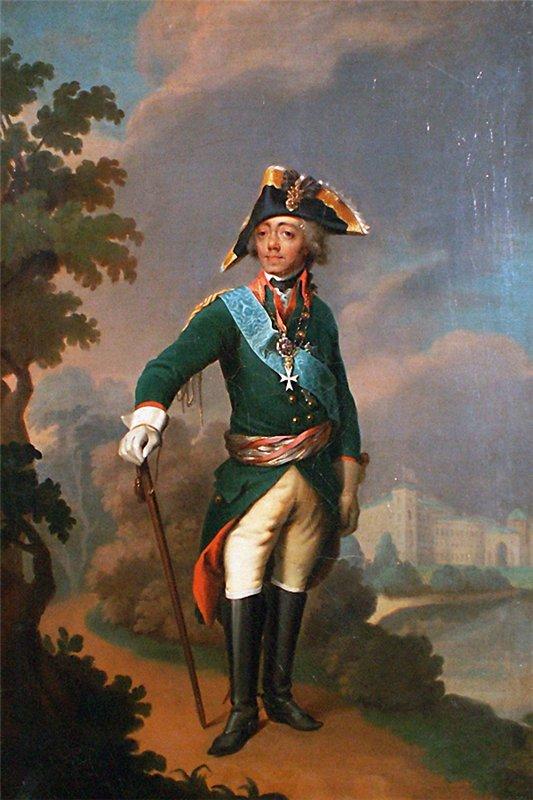 Портрет императора Павла I Степана Щукина конец 1790-х годов фото